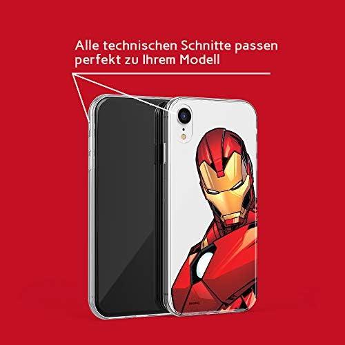 ERT GROUP Cover originale e ufficiale Marvel Iron Man per iPhone XR, cover in plastica TPU silicone per proteggere da urti e graffi