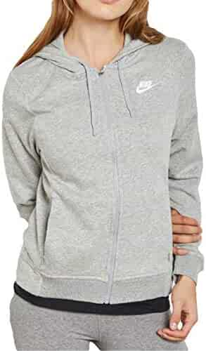 Details about Nike Sportswear Essential Cropped GreyWhite Women's Hoodie CJ6327 063