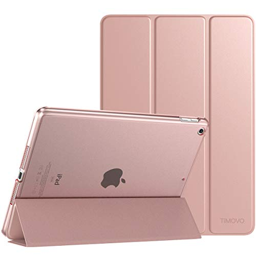 TiMOVO Cover Compatible for iPad 9.7 2018/2017 Case, Smart Case Slim Translucent Frosted Back Protector with Auto Wake/Sleep Fit iPad 9.7-inch 2018 & 2017 iPad 5/6th Gen, Rose Gold ()