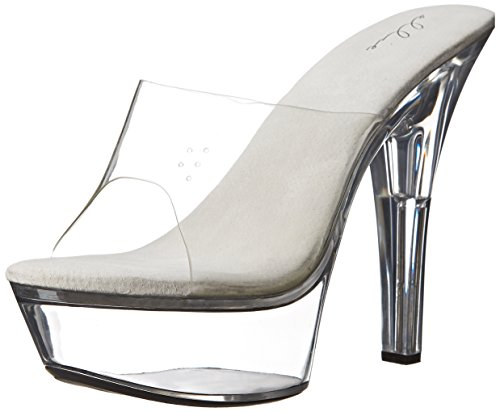 Ellie Shoes Women's 601-vanity, Clear, 11 M US