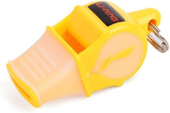 緊急ホイッスル、審判員トレーニングホイッスル、屋外緊急ホイッスル、サバイバルホイッスル、プラスチックホイッスル、4色から選択可能。 ステンレスsteel (Color : Yellow)