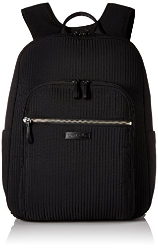 Vera Bradley Women's Iconic Deluxe Campus Backpack, Classic Black