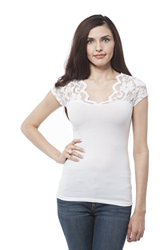 v neck short sleeve with lace insert on sleeve Plus for sale  Delivered anywhere in Canada