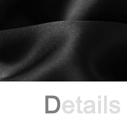 Dolamen Camisón para mujer, Mujer Cordón Corto Camisones raso Satin Pijamas, lencería Spaghetti Strap Babydoll Satén Neglige Lencería Ropa de Dormir Negro