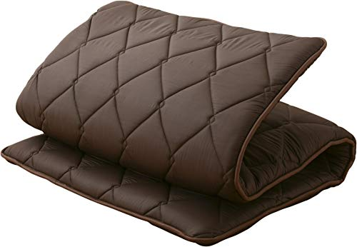 EMOOR Japanese Futon Mattress Ones-2' Twin Size (39x83in) Brown 3-Layered Non-Vacuum-Sealed Made in Japan