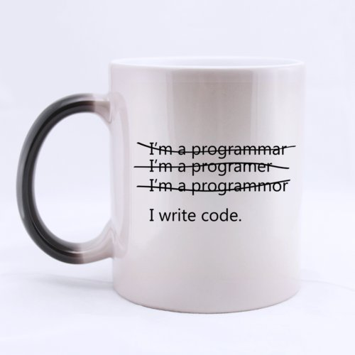 Funny Wrong I'm a programmer I write code Heat Sensitive...