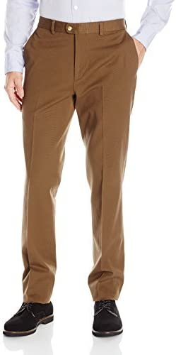Louis Raphael Mens Skinny Fit Flat Front Stretch Ottoman Cotton Pant