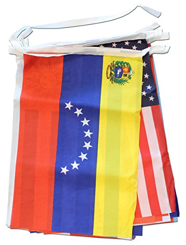 Flagline Spanish Speaking Countries - 30 ft String Banner (30' String)