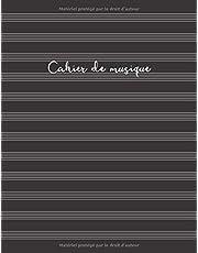 Cahier de musique: Cahier de partitions - Couverture noire