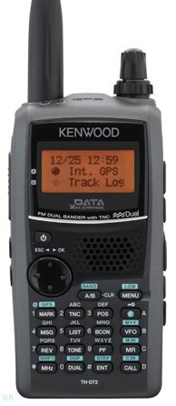 Kenwood TH-D72A 144/440 MHz Handheld Amateur Transceiver w/ 1200/9600 BPS Packet TNC, Built-in GPS, Echolink Ready, 5 Watts (Kenwood Transceiver)