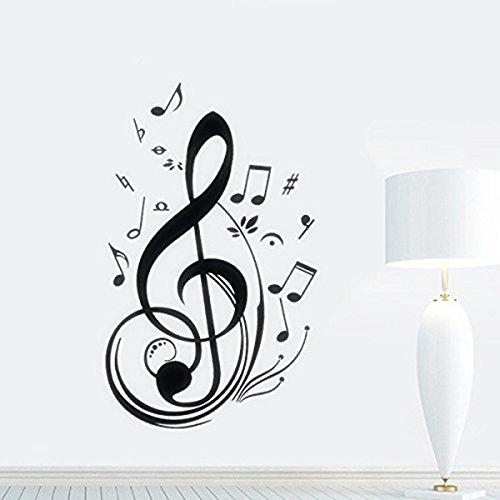 Skyllc/® Impermeable Vinilo Music Note pared Sticker Decal Decoraci/ón de la Habitaci/ón