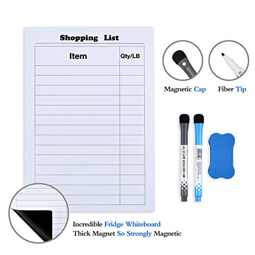 - Magnetic Dry Erase Board for Refrigerator Door Help You Record Your Shopping List A4 Size 8.27 × 11.69 Inches
