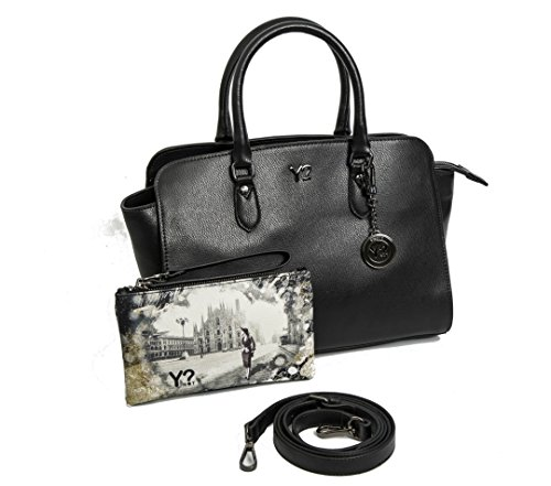 Borsa donna Y Not bauletto in vera pelle 720 M NERO
