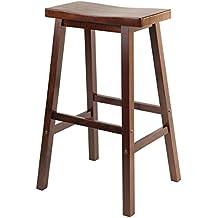 Winsome Wood 29-Inch Saddle Seat Stool, Walnut