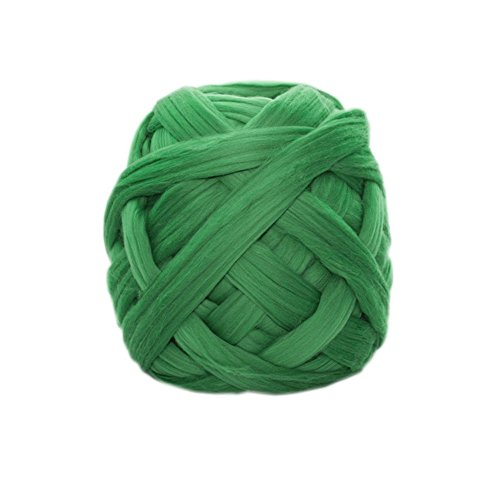DIY Cashmere Yarn, Super Soft Warm Chunky Bulky Arm Knitting Wool Roving Crochet Yarn (Green, 2.2 lbs) by RONGT