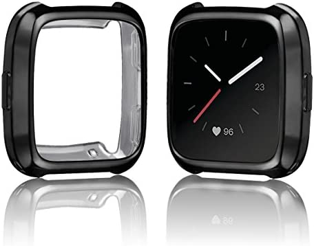 Amazon.com: Fitbit Versa chapado en funda, resistente a los ...