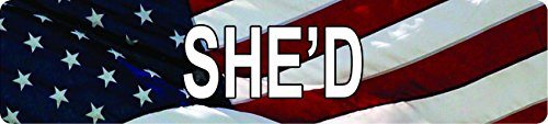 Vinyl Usa Shed - Any and All Graphics American USA Flag SHE'D 8