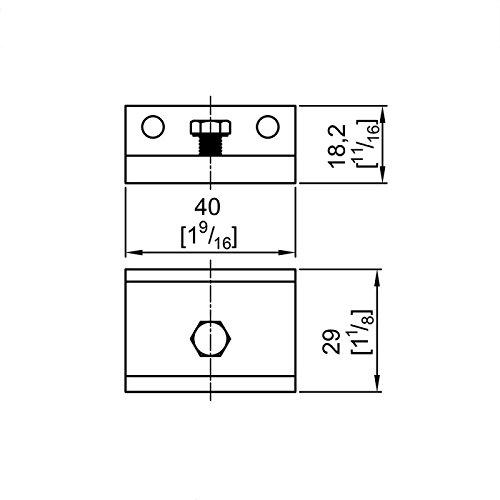 170 190 Montagewinkel Schiebet/ürbeschlag SLIDUP 160 5 Stk 25 mm