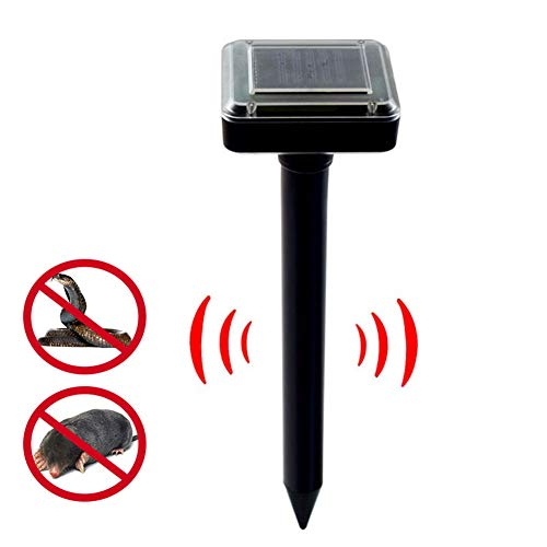 ZHOUHUAW Solar Ultrasonic Repeller, Humane Rodent Repellent, for Outdoor Lawn Garden Yards