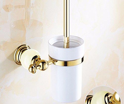 HYP-Bathroom gold toilet brush antique European style, A by HYP Bathroom supplies