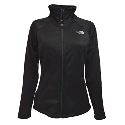 The North Face Women's Agave Full Zip Tnf Black Heather/Mid Grey (Prior Season) Sweatshirt by The North Face