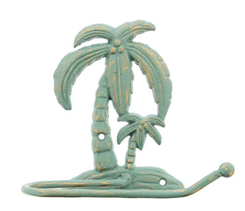 (The Bridge Collection Cast Iron Palm Tree Toilet Paper Holder)