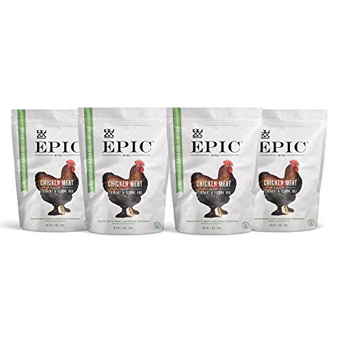 Sesame Chicken (Epic Jerky Bites, 100% Natural, Chicken, Currant & Bbq, 2.5 ounce, Pack of 4)