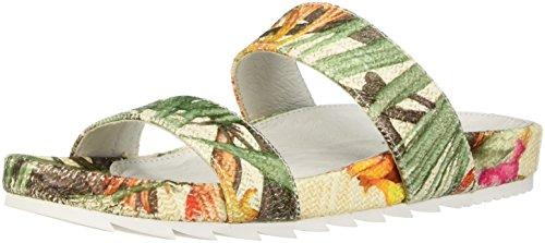 J Slides Women's Edie Sandal White/Yellow q9TgAzh