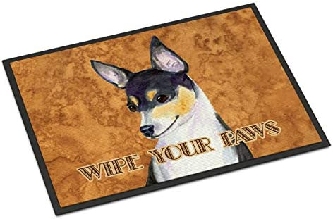 Caroline s Treasures SS4882JMAT Toy Fox Terrier Wipe Your Paws Indoor or Outdoor Mat 24×36, 24H X 36W, Multicolor