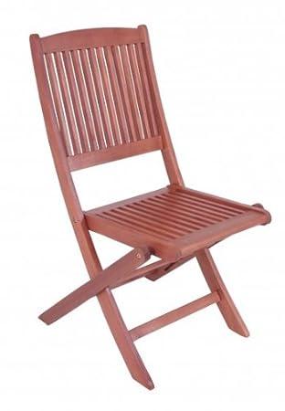 Silla de jardín Juego de 2 sillas plegables, madera de eucalipto FSC ...