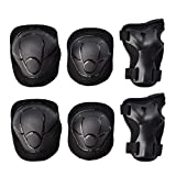 GOBEST Kids Protective Gear Set, Child Knee Pads Elbow Pads with Wrist Guards 3 in 1 for Boys and Girls Cycling Inline Roller Skating Biking Pack of 6 (Upgraded Vistion 3.0)
