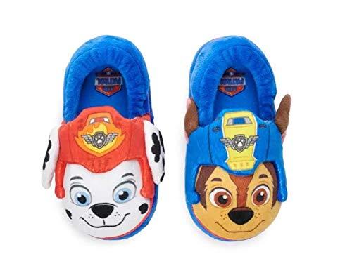 Paw Patrol Chase & Marshall Toddler Boys Slippers, Medium (7/8)