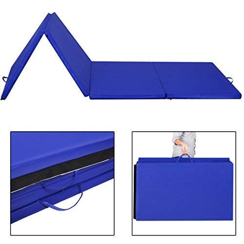 Giantex SP31622BL Gymnastics Mat Folding Panel Thick Gym Fit