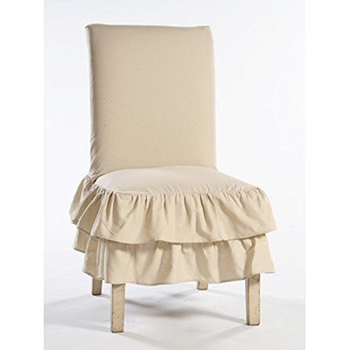 Parson Chair Skirted Slipcover (Parsons Chair Skirted)
