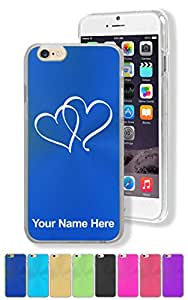"""Personalized Case for Apple iPhone 6 (4.7"""") - TWIN HEARTS - Engraved for FREE"""