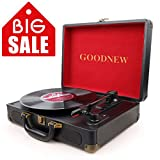 Best Record Player With Vinyls - GOODNEW Vinyl Record Player Turntable, Built in Speakers Review