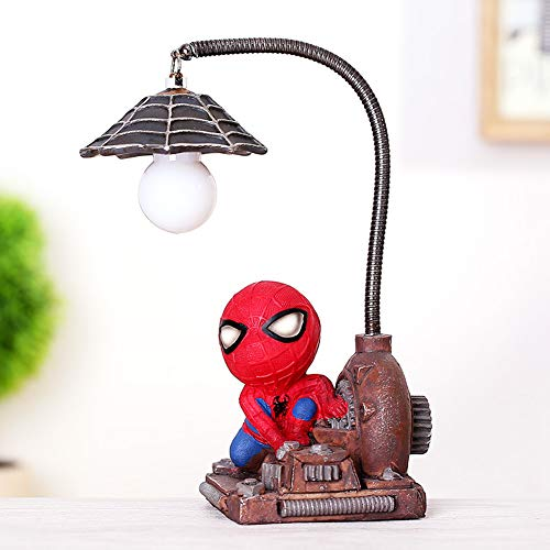 Spiderman Resin Ornament/Toys for Children/Home Decoration Birthday Gift/Super Hero Spiderman Mini Night Light (Spiderman-A)