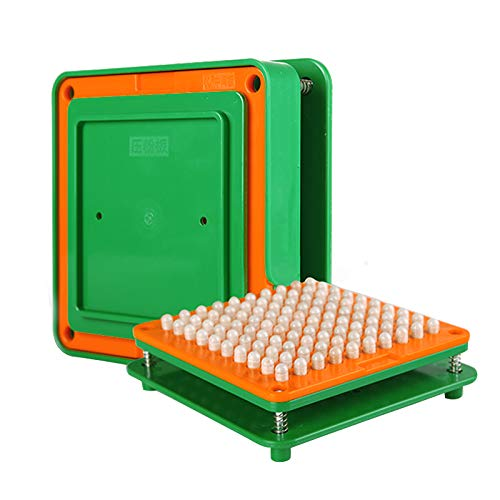 wananfu 100 Holes (0#) Capsule Holder With Tamper for Size 0 capsules Holding Tray Pill Dispensers & Reminders Green by wananfu