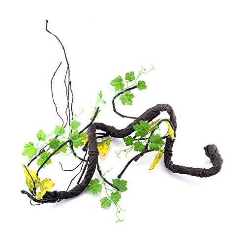 (PIVBY Reptile Decor Flexible Bearded Dragon Vines Lizard Climbing Habitat for Lizards, Frogs, Snakes and Other Reptiles)