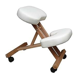 Silla a3w oficina ergon mica blanca con apoyo para las for Silla ergonomica amazon