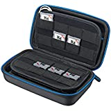 Supremery Case with Mesh Pocket, Zip and Snap Hook for 3DS XL / 3DS / 3DS LL Console - Blue/Black