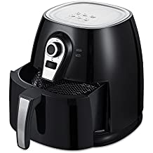 YONGTONG 1400W Air fryer, Healthy Smokeless Low-Fat Non-stick Multi-Cooker Oilless Cooker, 4L 3.8QT Capacity with Timer and Temperature Control and Detachable Basket Handles (Black)