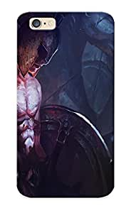 B84217f5278 Rightcorner Awesome Case Cover Compatible With Iphone 6 - Art Chenbo Girl Man Warrior Helmet Spear Shield Wings Statue Horse Armor Warriors
