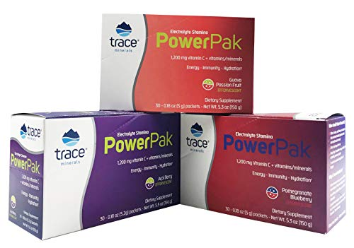 Electrolyte Stamina Power Pak 3 Box Combo/Acai Berry, Pomegranite Blueberry, Guava PassionFruit