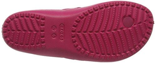 Crocs Kadee II W - Chanclas de Sintético Mujer Rosso (Raspberry)