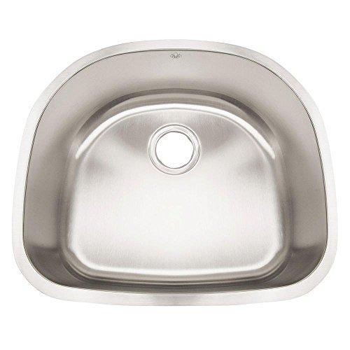 - Artisan AR2321D9-D 23 1/2 X 9 X 19 Standard D-bowl Undermount 16 Gauge Kitchen Sink by Your Other Warehouse