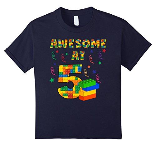 kids-birthday-shirt-for-boys-age-5-five-blocks-bricks-theme-6-navy