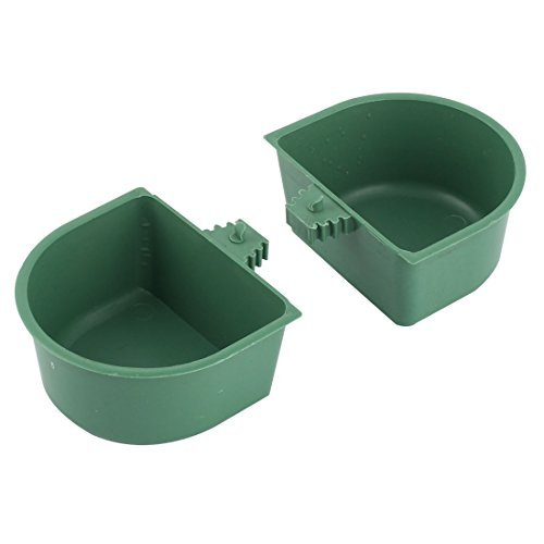 Amazon.com : DealMux Plastic Food Água Líquido Feeding Pet copo bebendo de alimentação 2 Pcs Verde Escuro : Pet Supplies