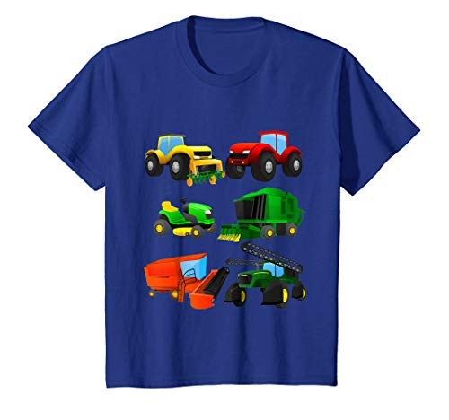 Kids Boys' Farm Tractors Short Sleeved T-shirt for -