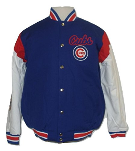G-III Sports Chicago Cubs Men's Blue/White Elite Commemorative - Jacket Cubs Chicago